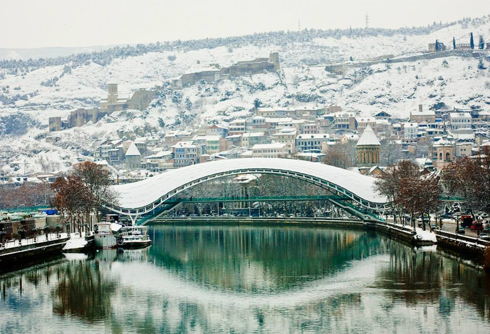 العاصمة تبليسي فى الشتاء